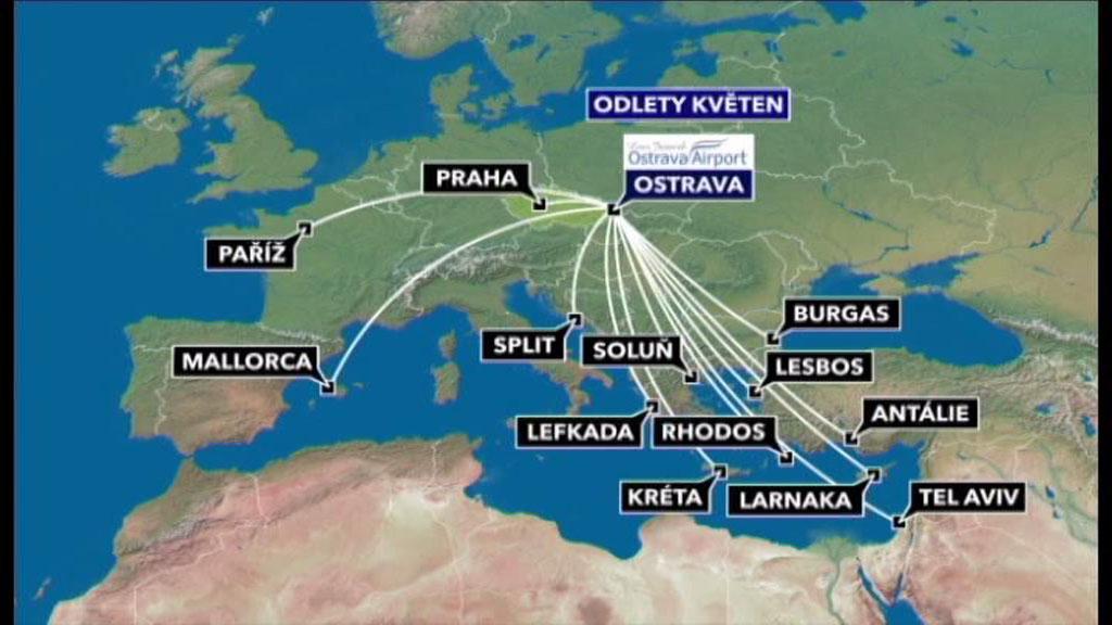 Nové letecké linky z mošnovského letiště