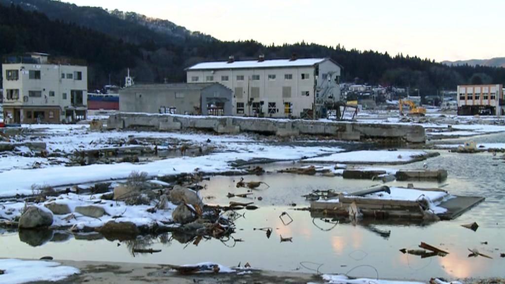 Kesennuma (Japonsko) rok po zemětřesení - březen 2012