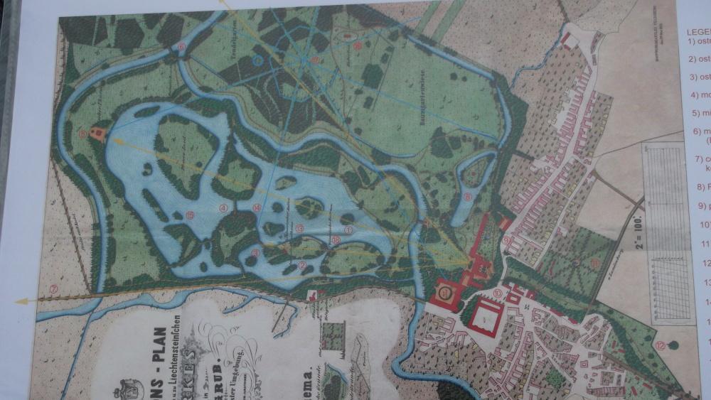 Původní plány zámeckého parku