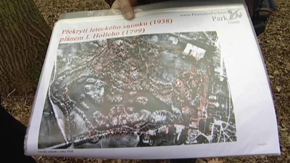 Zahradu objevili překryvem původních plánů s leteckým snímkem