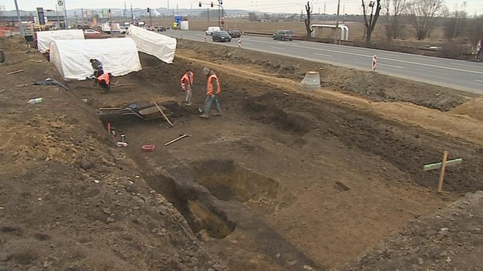 Naleziště vykopávek nedaleko Zlína