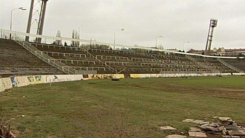 Chátrající stadion za Lužánkami