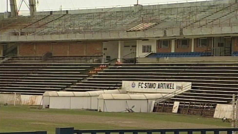 Kdysi slavný fotbalový stadion