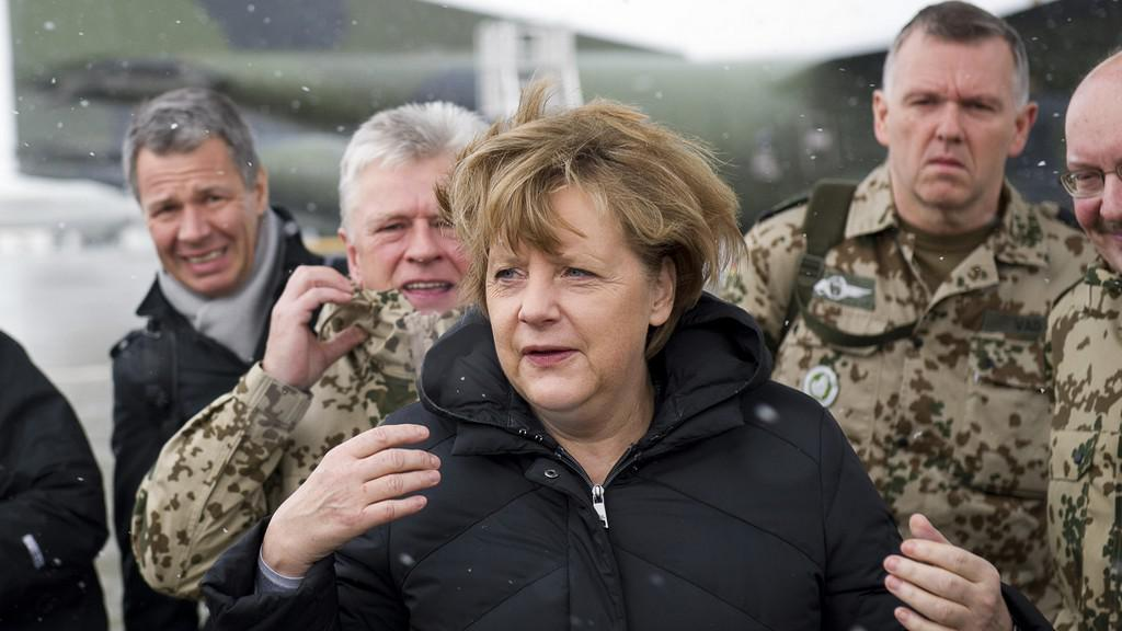 Angela Merkelová v Afghánistánu