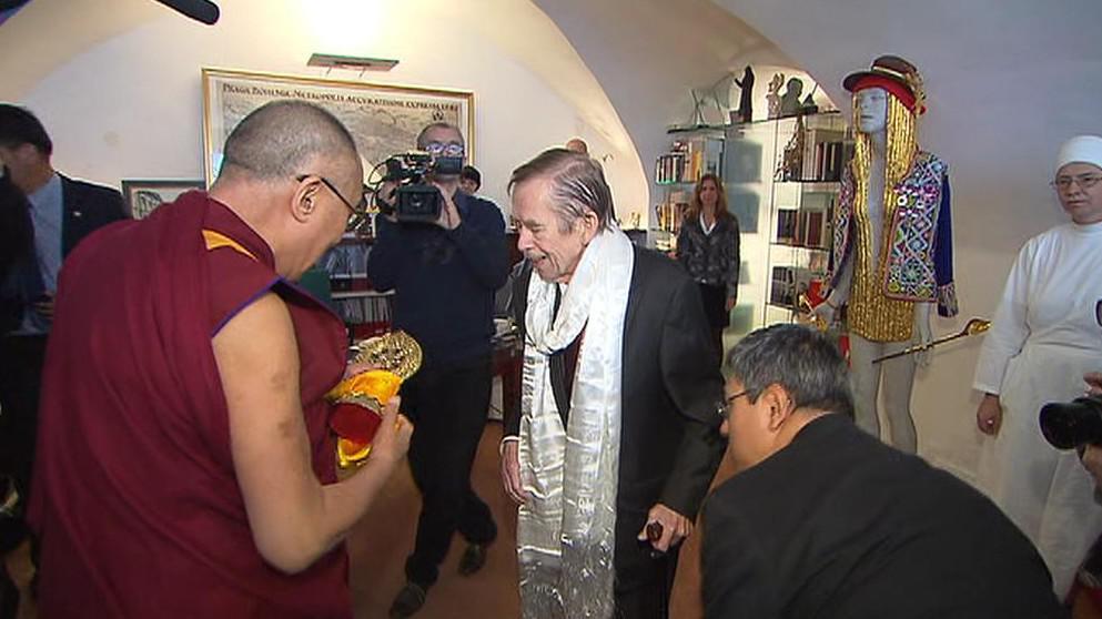 Setkání Václava Havla s dalajlamou