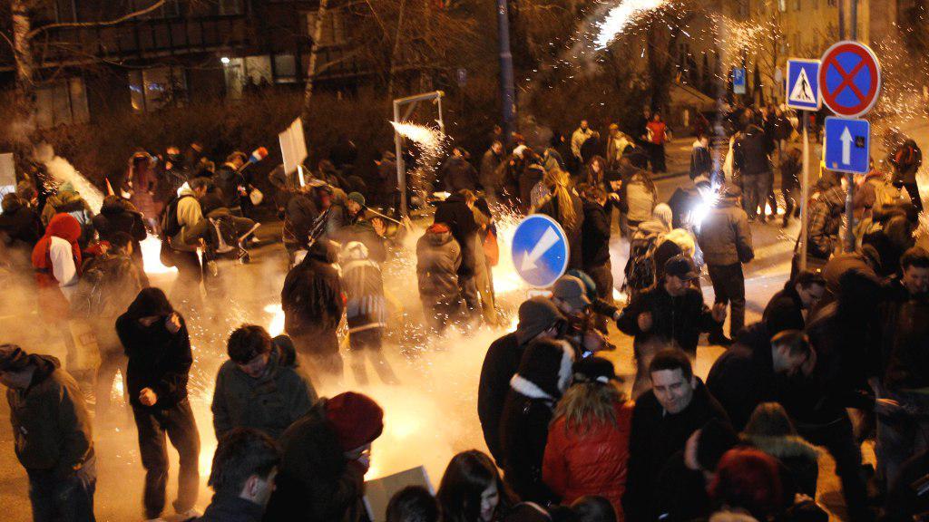 Policejní zásah v Bratislavě