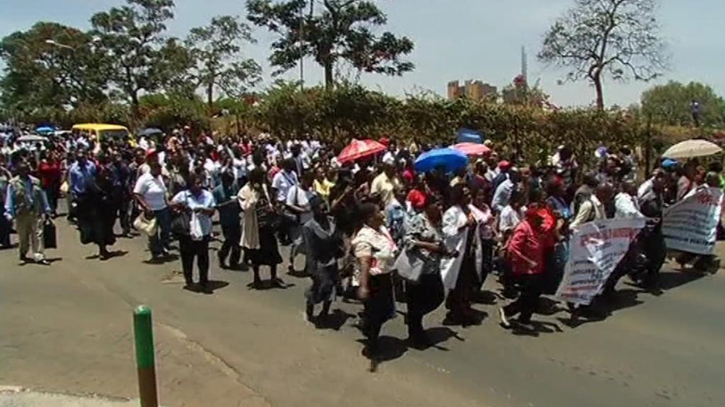 Protest keňských zdravotních sester