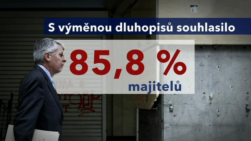Řecko - majitelé dluhopisů souhlasili s výměnou