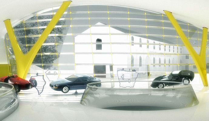 Vizualizace Ferrari muzea