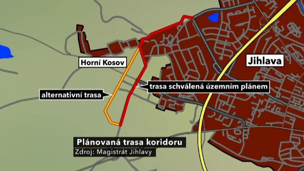Plánovaná trasa koridoru