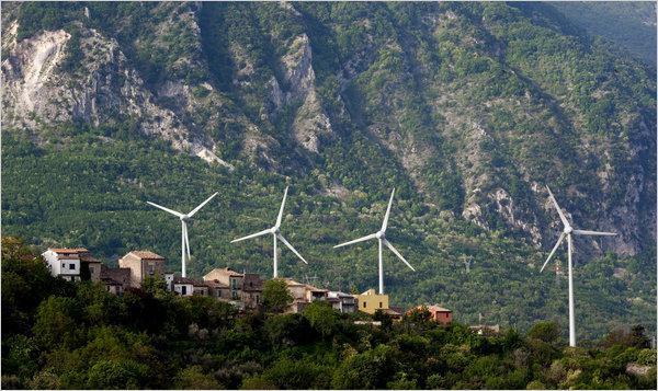 Větrníky v Tocco da Casauria