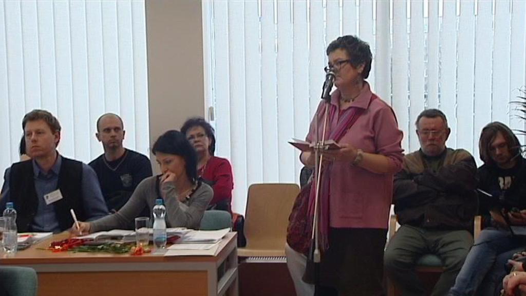 Radana Parmová, mluvčí petičního výboru za zachování školy V zálomu