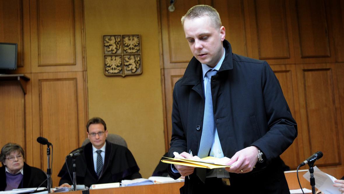 Matěj Bárta u soudu