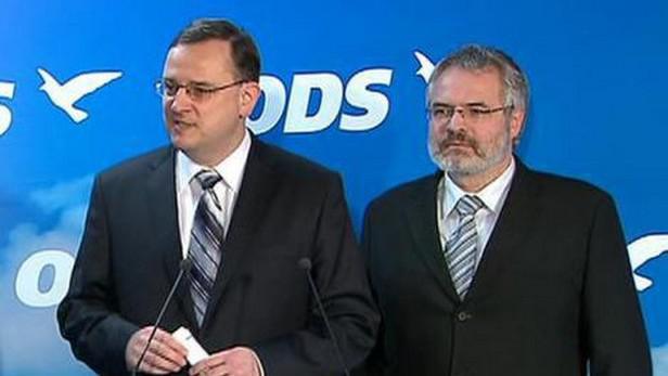 Petr Nečas a Dan Jiránek