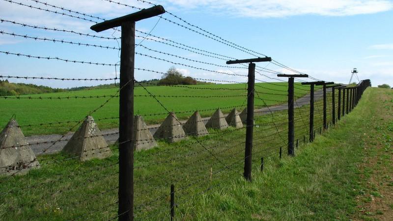 Železná opona – zachovalá část u obce Čížov