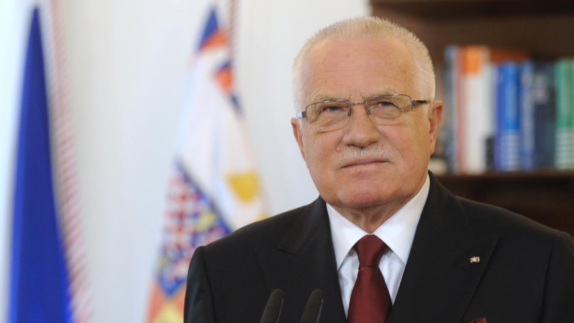 Český prezident Václav Klaus