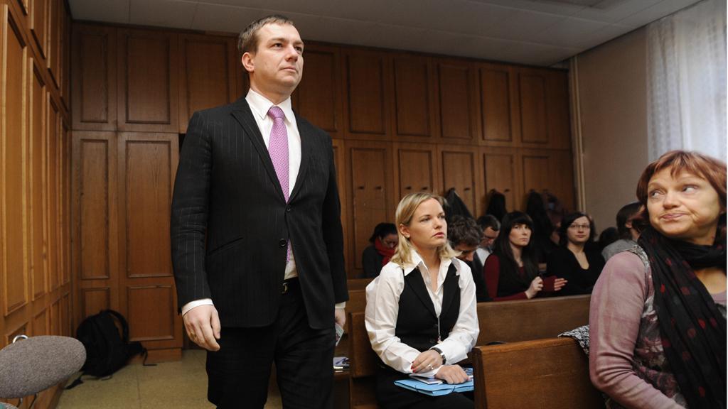 Michal Babák u soudu