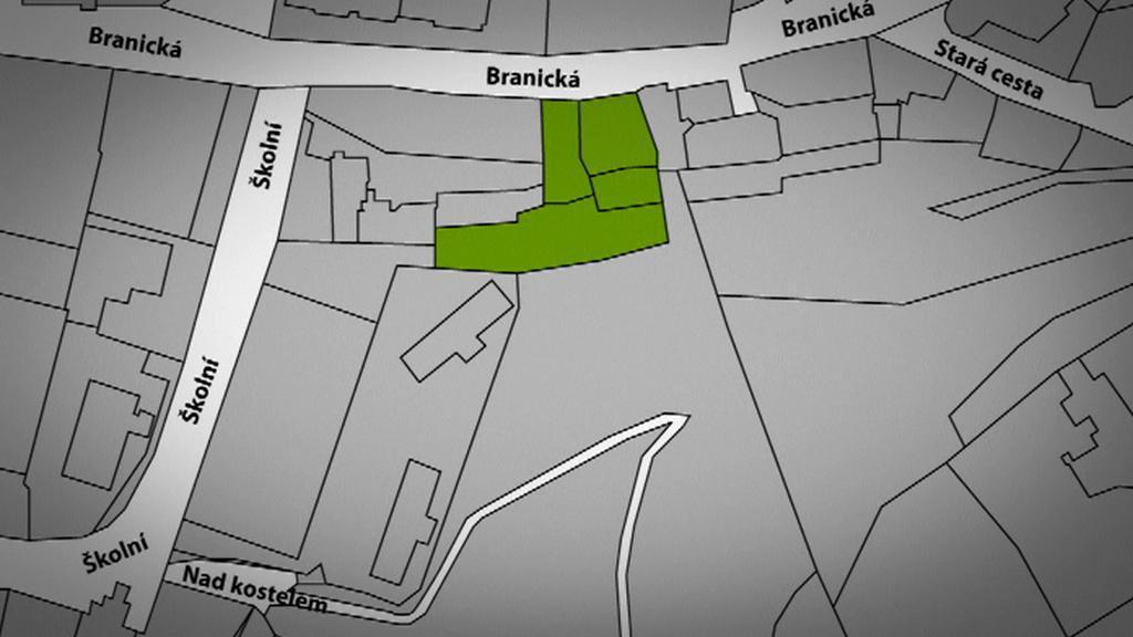 Nevýhodný odprodej pozemků v Braníku