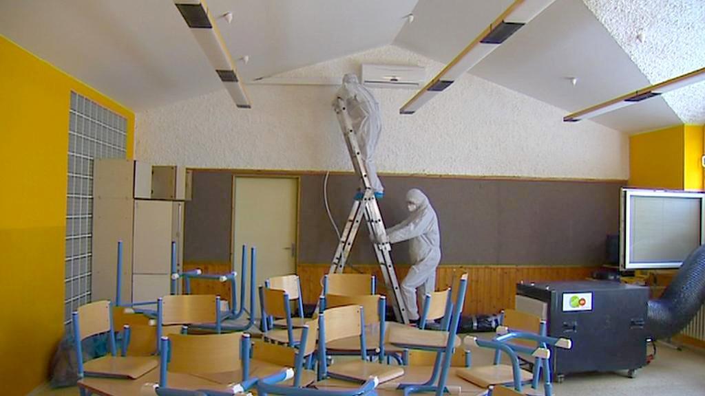 Azbest ve školní třídě