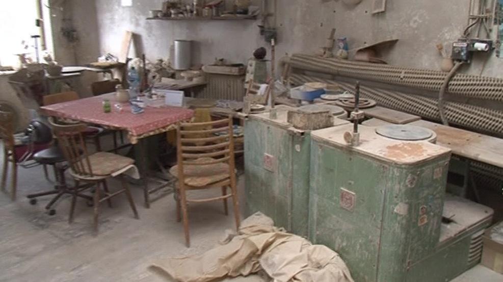 Keramická dílna je už rok a půl prázdná