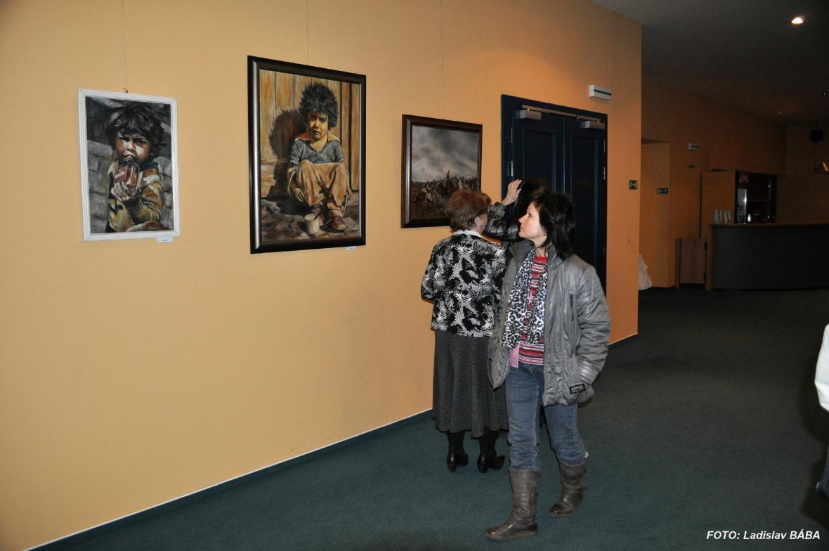 Z výstavy Luďka Dvořáka v Lounech