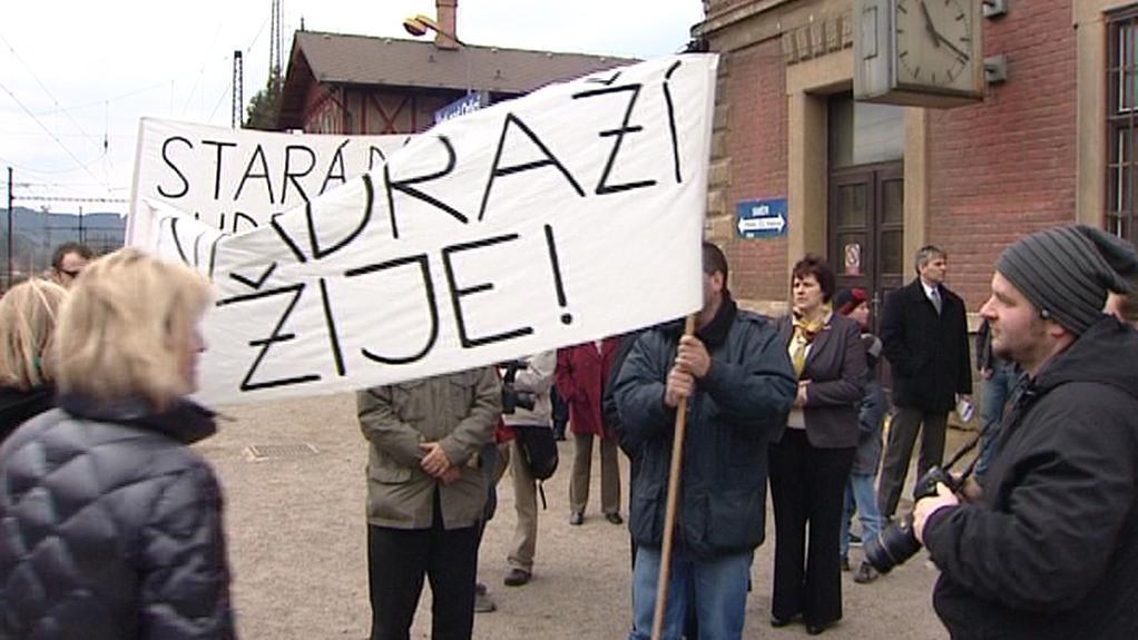 Protesty proti demolici starého nádraží