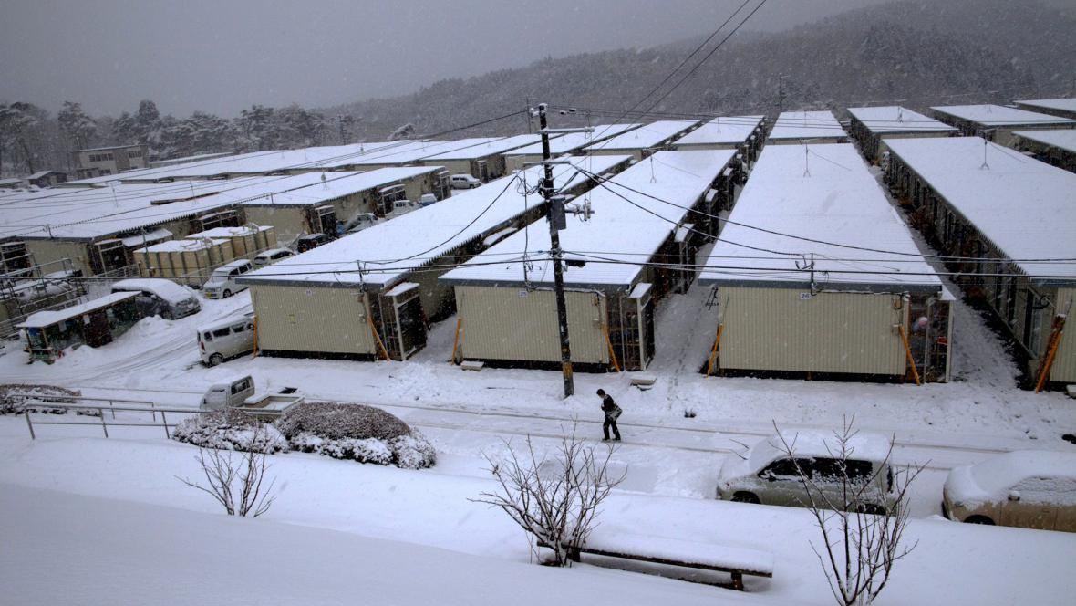 Provizorní přístřešky pro oběti zemětřesení