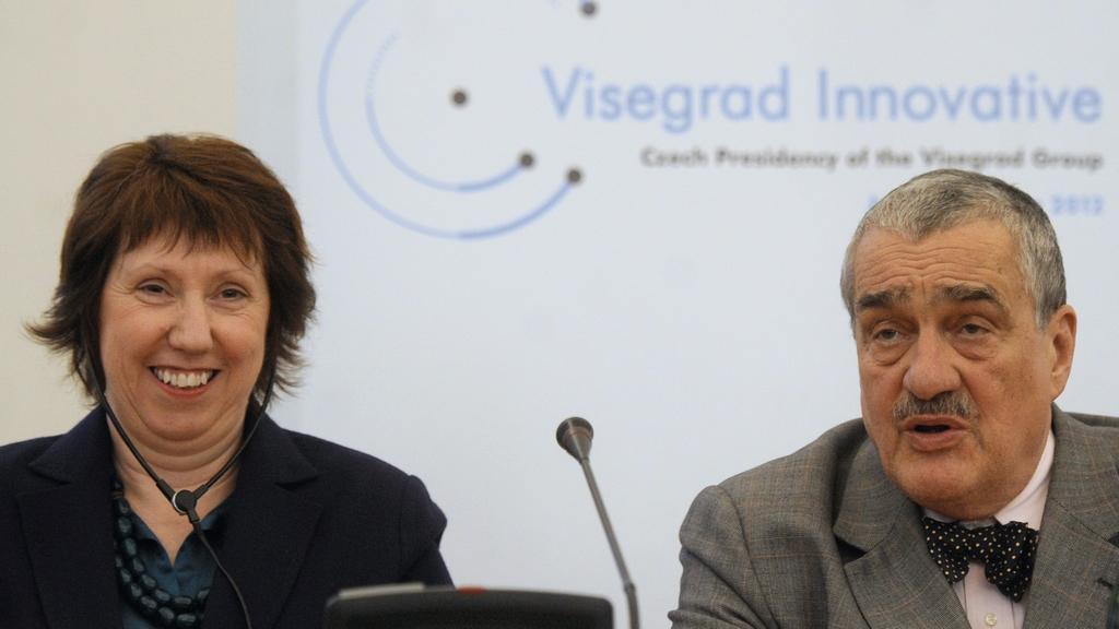Catherine Ashtonová a Karel a Schwarzenberg