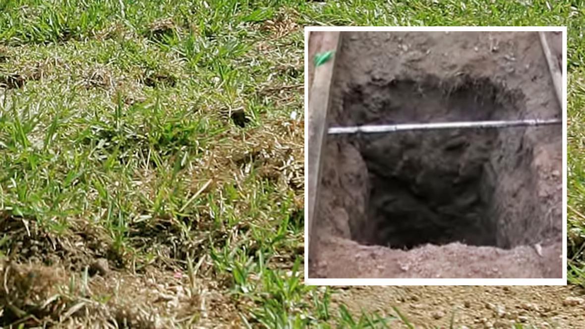 Místo, kde se nechal pohřbít Džanaka Basnajake