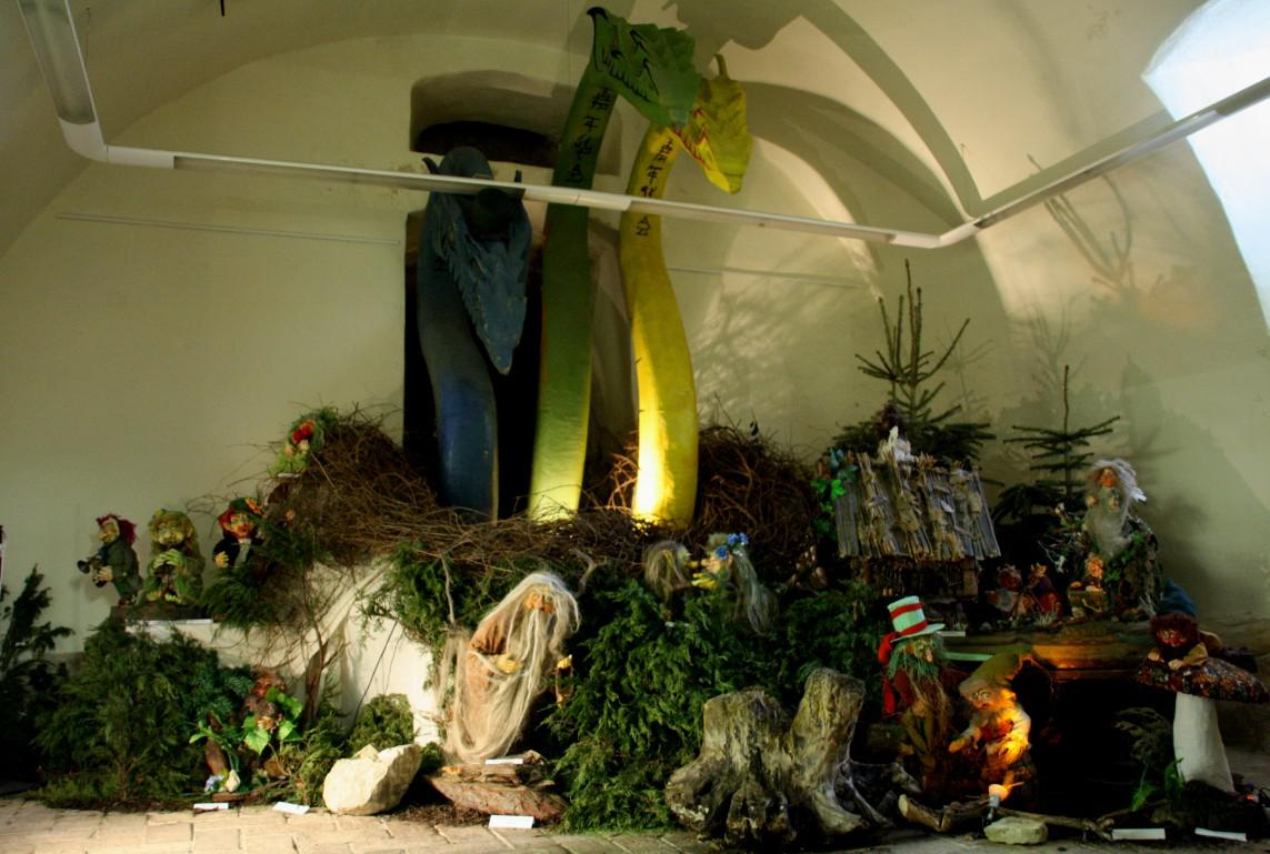 Z výstavy Vítězslavy Klimtové na Chvalském zámku