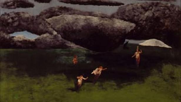 Černá slunce / obraz Josefa Šímy (výřez)