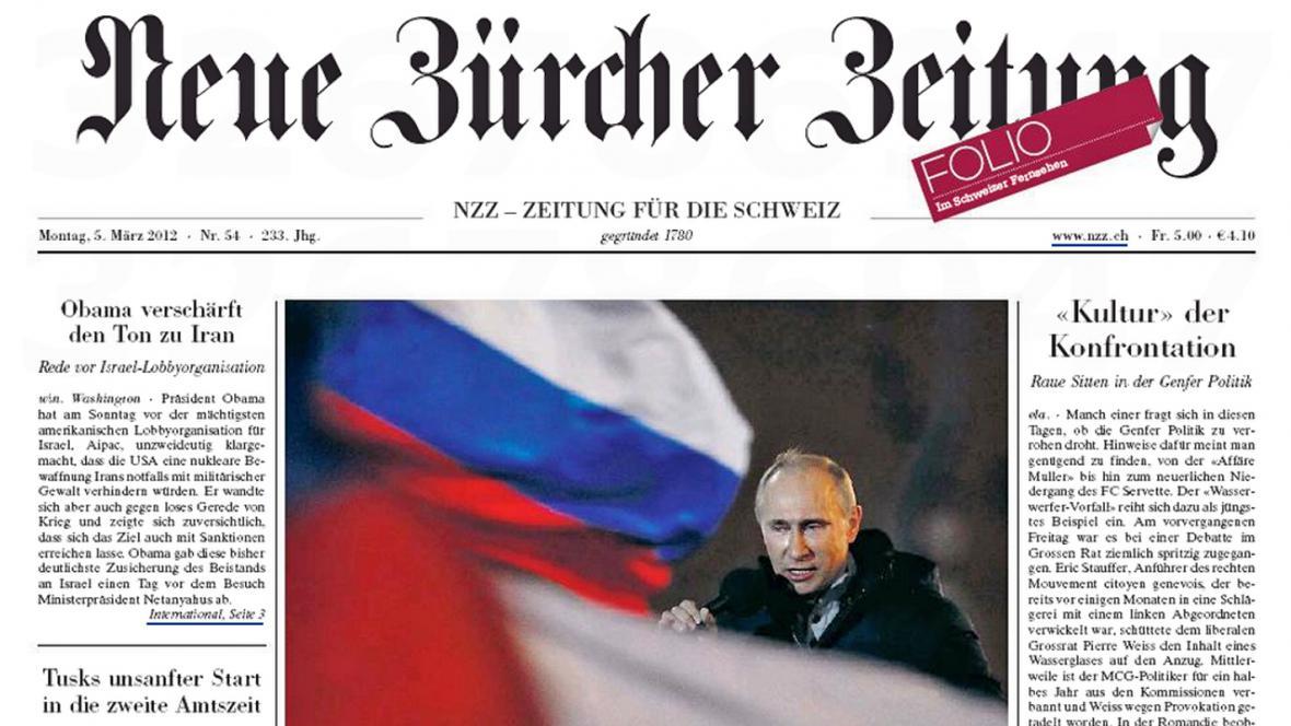 Neue Zürcher Zeitung z 5. beřezna 2012