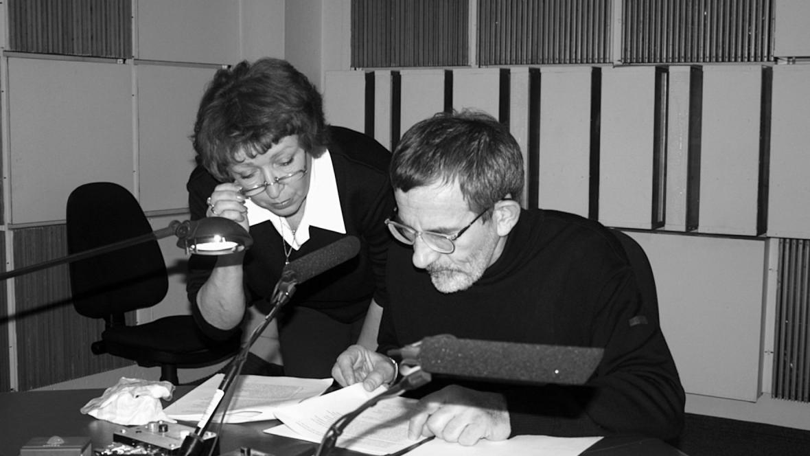 Miloš Štědroň s Olgou Jeřábkovou