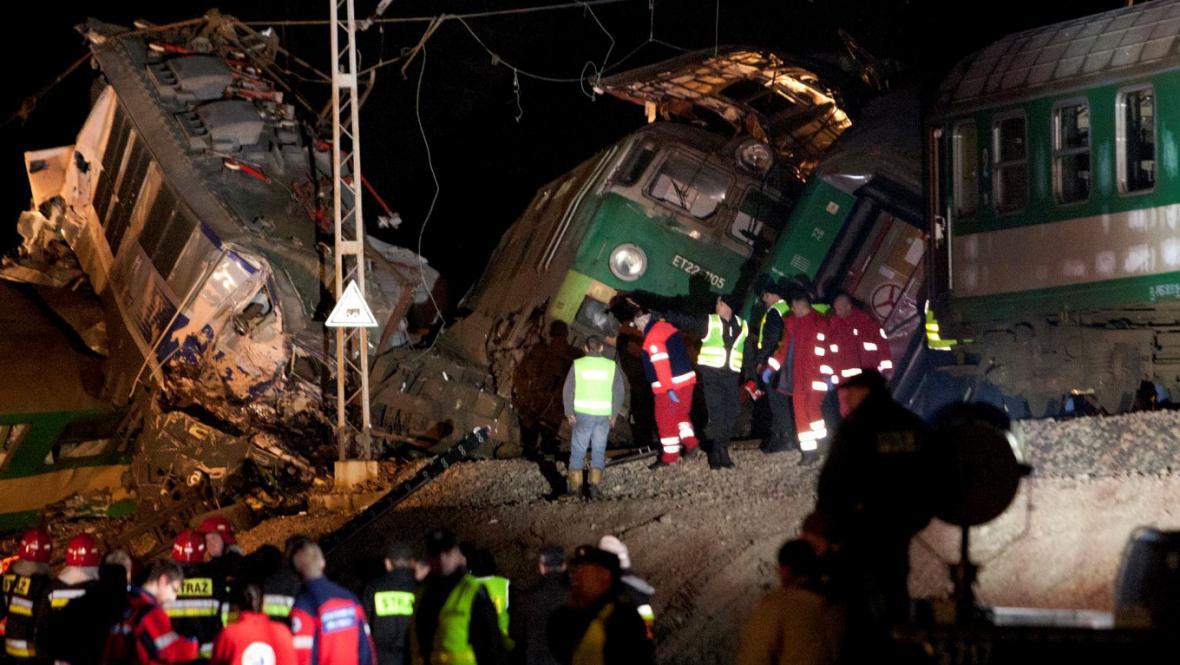 Srážka polských vlaků