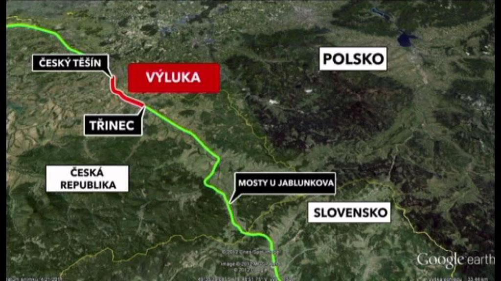 Výluka Český Těšín - Třinec