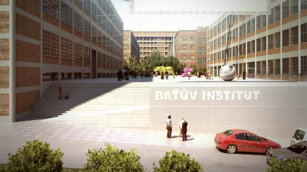 Vizualizace Baťova institutu
