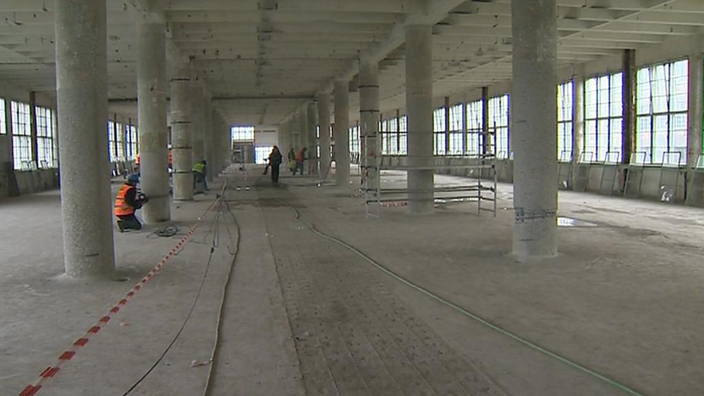 Přestavba budov bývalé továrny Baťa