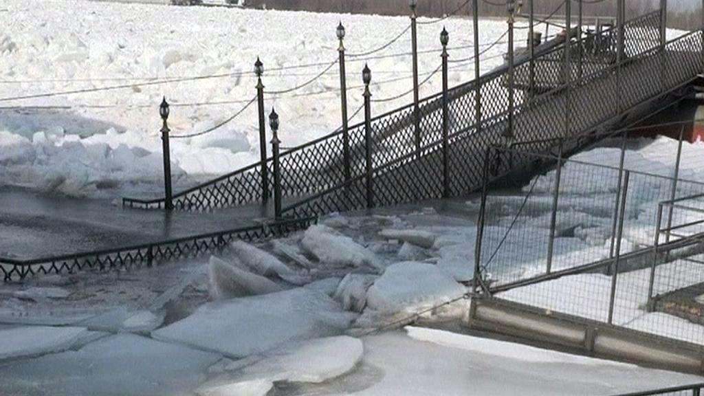 Ledové kry poničily infrastrukuturu v bulharské Silistře