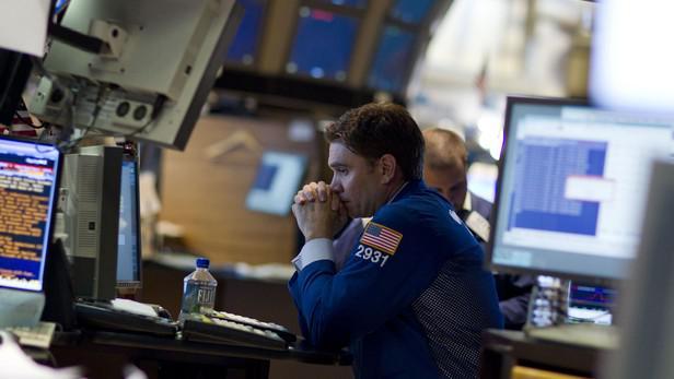 Obchodník na burze cenných papírů v New Yorku