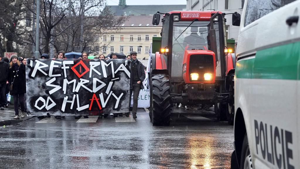 Protesty v Brně