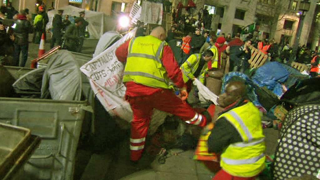 Vyklízení tábora Okupujte Londýn