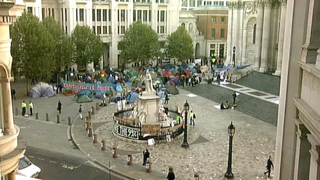 Tábor demonstrantů Okupujte Londýn