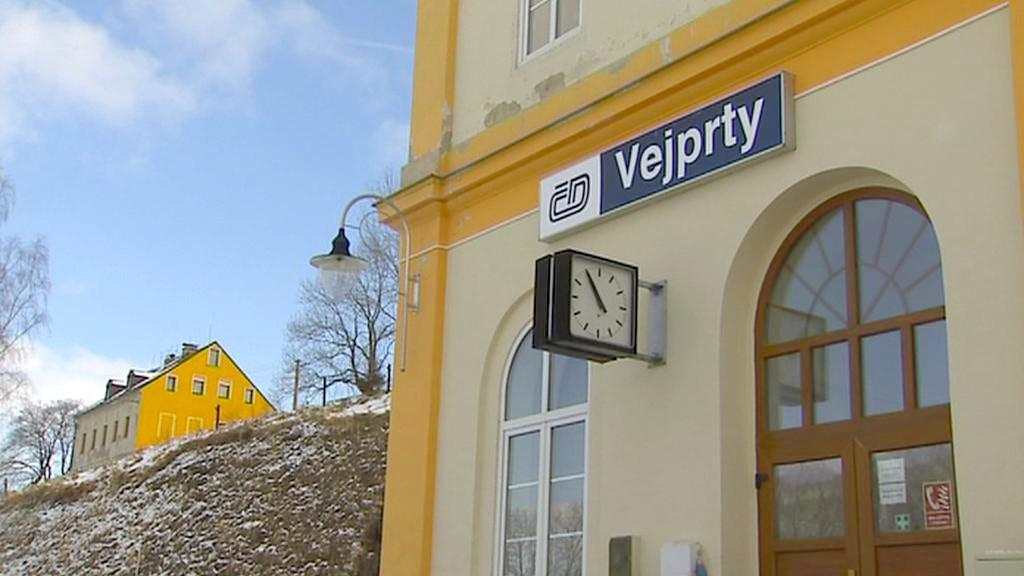 Železniční stanice ve Vejprtech