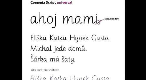 Písmo Comenia script