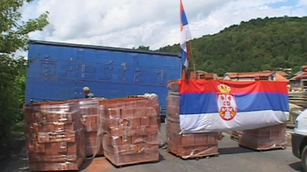 Barikády na kosovsko-srbské hranici