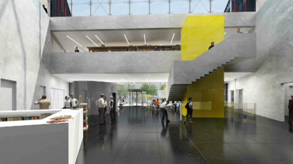 Vizualizace interiéru nové budovy NFA