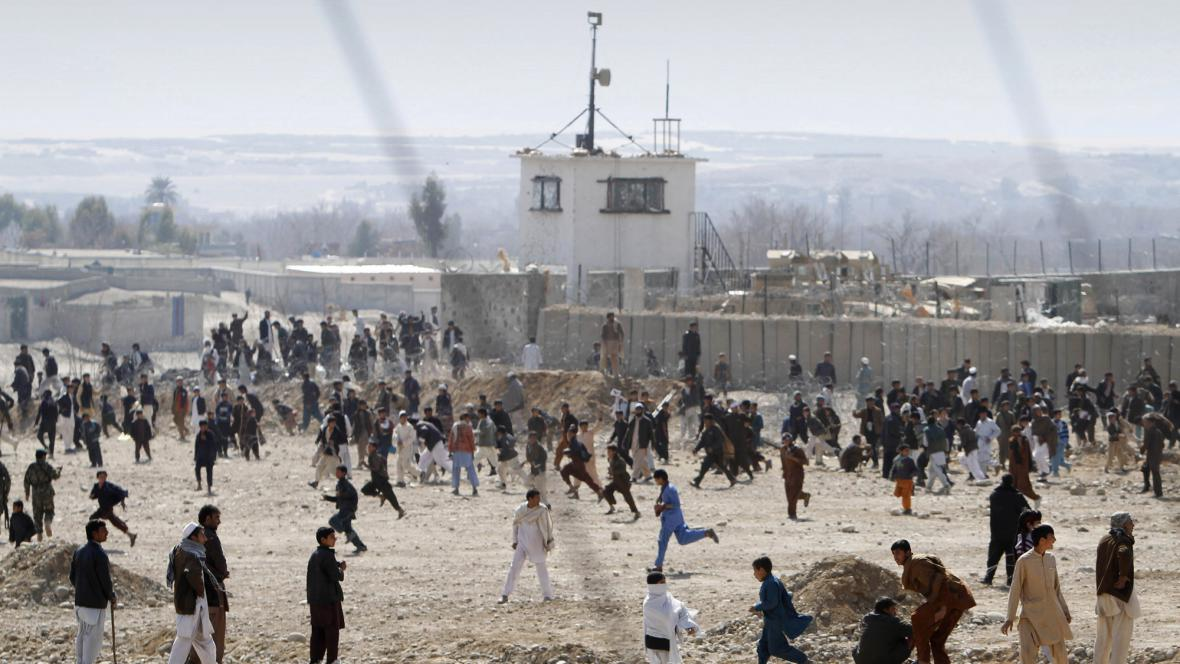 Protiamerické demonstrace v Afghánistánu