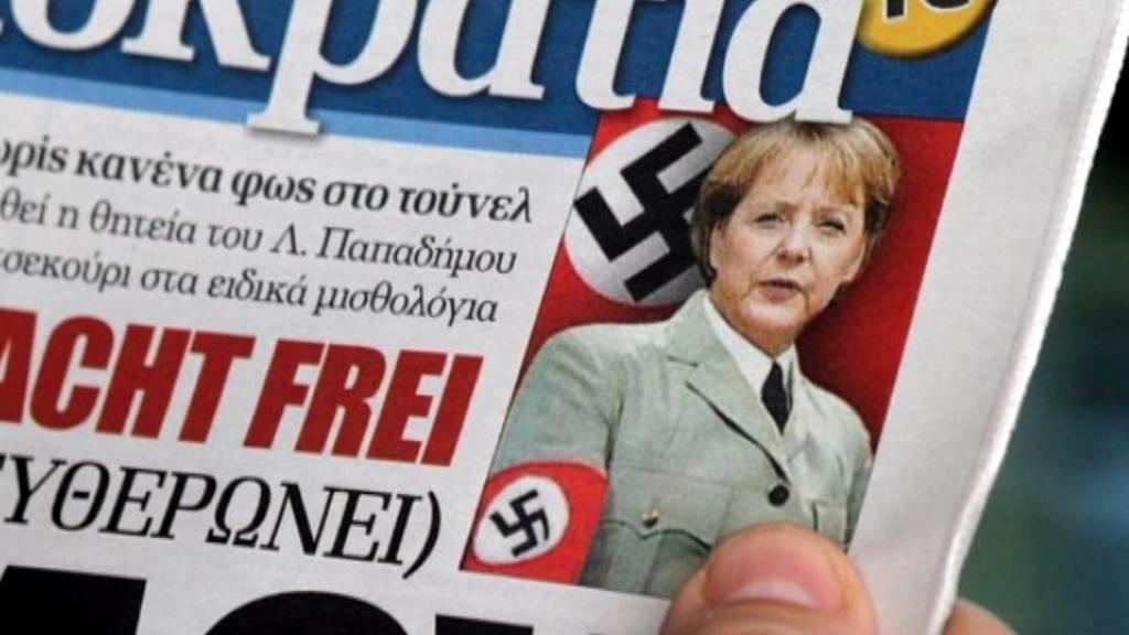 Merkelová v řeckém tisku