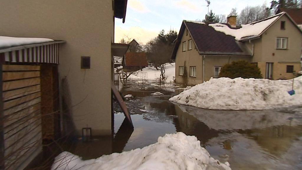 Záplava v Dolní Sytové