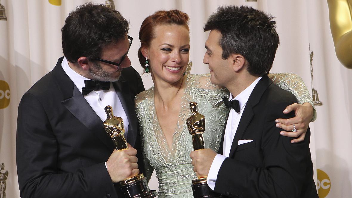 Michel Hazanavicius, Bérénice Bejo a Thomas Langmann
